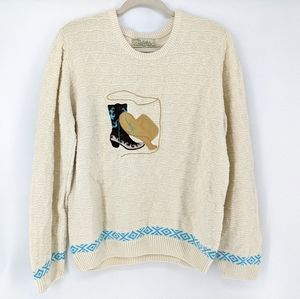Cabela's Knit Pullover Embroidered Western Sweater